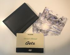 HYUNDAI GETZ OWNERS PACK / MANUAL COMPLETE WITH WALLET 2002~2005