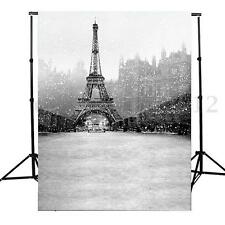 Toile de Fond Backdrop Tissu 90x150cm Photographie Studio Photo La Tour Eiffel