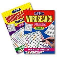 2 X A5 Mega WordSearch Puzzle Book Books 500 Puzzles Pages Super Trivia