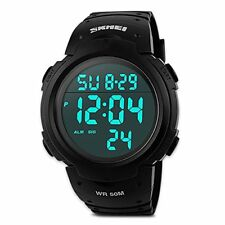 Mens Digital Sports Watch Males Waterproof Electronic Military Army Watches Coo