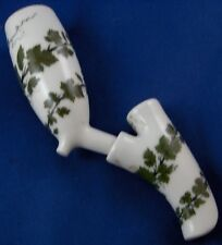 Antique Meissen Porcelain Grape Leaf Pipe Bowl Porzellan Pfeifenkopf Weinlaub