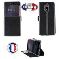 Etui Rabattable Noir Avec Ouverture Ecran pour Nokia 6