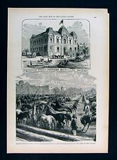 Leslie Civil War Print - Grand Horse Corral Washington DC - Coccoran Building