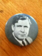 New listing Vintage Wendell Wilkie Political Campaign Photo Button Pin