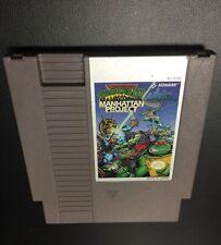 Teenage Mutant Ninja Turtles 3 III The Manhattan Project (Nintendo)