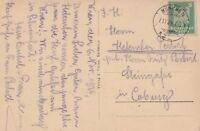 Ansichtskarte München verschickt nach Coburg aus dem Jahr 1924