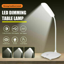 Super Bright Dimmable Led Desk Bedside Reading Lamp Night Light Usb Rechargeable