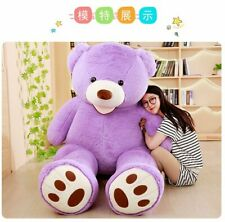 Purple Giant Teddy Bear Unfilled Plush Toy For Christmas Gift 200CM(only Cover)