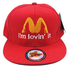 Mc Donald Parody Funny Spoof I'm Lovin' It Red Snapback Cap Hat Halloween Party