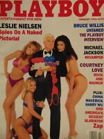 Playboy February 1996 | Leslie Nielsen Cona Carmack   #3134+