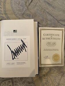 President Donald J. Trump Signed Crippled America Book W/ COA AUTO 4,903/10,000