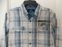 New Buffalo David Bitton Button Front Long Sleeve Plaid Shirt - Medium