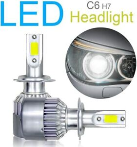 2pcs H7 LED Headlight Bulbs Conversion Kit COB Chips High/Low Beam Light Bulbs