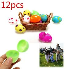 12Pcs Mix Plastic Empty Easter Eggs Hunt Gifts Home Decoration Kids Toys Cute A3