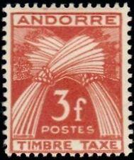"ANDORRE FRANCAIS STAMP TIMBRE TAXE 35 "" GERBES 3F "" NEUF x TB"