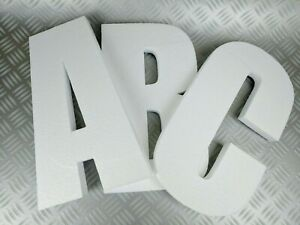 3D Polystyrene Decorative Letters/Numbers - 600mm high X 50mm thick