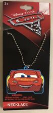 Disney Cars 3 Lightening McQueen Red Necklace Jewelry Chain Gift Set New