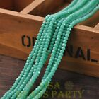 New 100pcs 4X3mm Glass Rondelle Faceted Loose Beads Opaque Turquoise