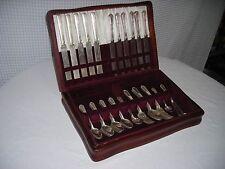 44 Piece Rogers Bros.Silverplate Silverware Set Ancestrial Pattern Circa: 1924c.