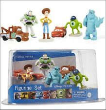 Licensed DISNEY PIXAR 6 FIGURES SET Collector's Pack CARS TOY STORY MONSTERS INC