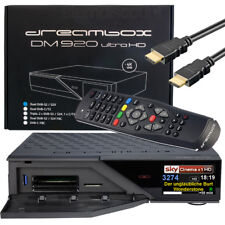 Dm920 blindados 4k sat-receptor dvb-s2 dual Twin sintonizador Dreambox Ultra HD Digital PVR