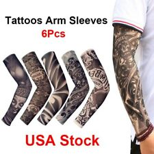 6 pcs Tattoos Cooling Arm Sleeves Cover Sport Basketball Golf UV Sun Protection
