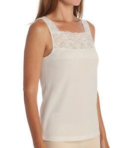CUDDL DUDS Softech Square Neck Ivory Camisole Size Small