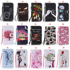 Bear Girl Flower Wallet Leather Skin Flip Case Cover For Samsung Galaxy S3 S4 S5