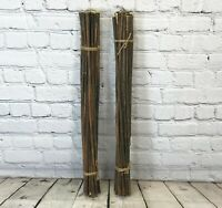 40 x 8ft HEAVY DUTY THICK TONKIN BAMBOO CANES PLANT SUPPORTS 16//20mm Diameter