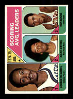 1975-76 Topps #221 Julius Erving/George McGinnis/Ron Boone EX+ League Leaders LL