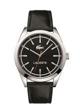 Designer Lacoste Men's Edmonton 2010888 Black Leather Watch RRP £289 - NEW