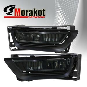 13-15 Honda Accord 4 DR OEM Front Bumper Fog Light Smoke Lens+Switch+Bulb+Wiring
