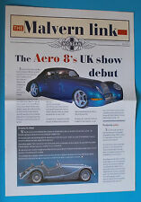 2000 MORGAN AERO 8 BROCHURE (THE MALVERN LINK) / LARGE CENTRESPREAD & PRICE LIST