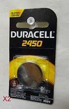 Duracell 2450 Photo Electronic Battery Lot of 2 EXP: 2024 DL2450/CR2450