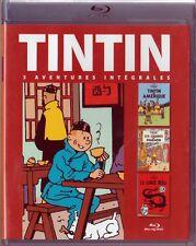 Tintin -Les Cigares de Pharaon/Le Lotus Bleu/Tintin en Amérique Blu-ray - NEUF