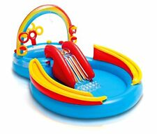 Inflatable Kiddie Pool Swimming Outdoor Play Center Summer Fun Water Slide New