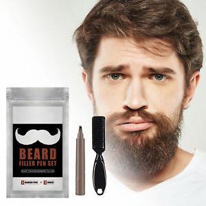 Portable Beard Filling Pen Use Easily Natural 4 Tip Beard Filler Pen Kit