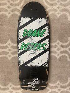 Vintage 80s Duane Peters Santa Cruz Skateboard Deck Powell Punk Rock Pig