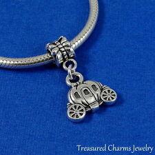Silver Cinderella PUMPKIN CARRIAGE Fairytale EUROPEAN Dangle Bead CHARM *NEW*