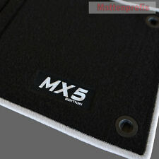 Mattenprofis Velours Fußmatten Logo silb für Mazda MX-5 MX5 NA ab Bj.1989 - 1998