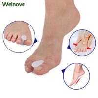 2Pcs Silicone Big Toe Spacer Separator Straightener Spreader Foot Relief Pain