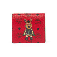 MCM Rabbit Cards Wallet Coated Canvas Material MYA6AXL05RU Ruby Red Color