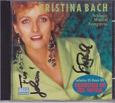 Kristina Bach-Schlager Musical Evergreens cd album gesigneerd