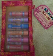 Lip Smackers 6 Piece Starburst Baja/Tropical set in Mesh pouch. Rare and HTF