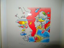 PENCIL SIGNED PETER MAX LITHOGRAPH COSMIC HOLIDAY 277/280 EMBOSSED MAX NY STAMP
