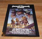 AMERICAN CANADIAN Classic Art Show POSTER Vintage 1983 Cowboy Billings Montana