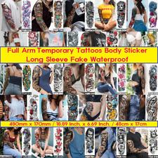 Temporary Tattoos Body FULL ARM Tattoo Sticker Long Sleeve Fake Waterproof Sheet