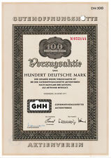 G h H buena esperanza cabaña nuremberg Oberhausen dm vorzugsaktie 1977 Haniel Man NRW