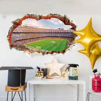 Wandtattoo Wandsticker Wandaufkleber Kinderzimmer Fußball 3D Stadion  #138-1