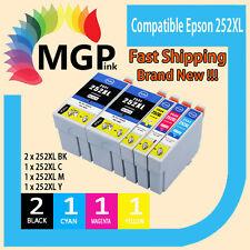 5x Generic Ink Cartridge 252XL for Epson WF-3620 WF-3640 WF-7610 WF-7620